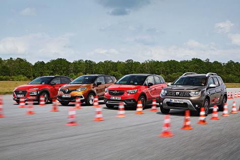 Duster, Captur, Crossland X, Kona: kompakte SUVs im Test - autobild.de