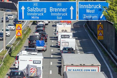 Tirol: Stau auf Autobahnen