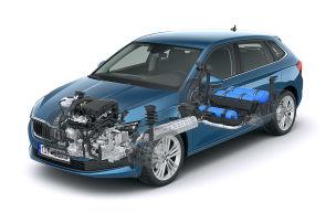 Erdgas-Motor für den Scala