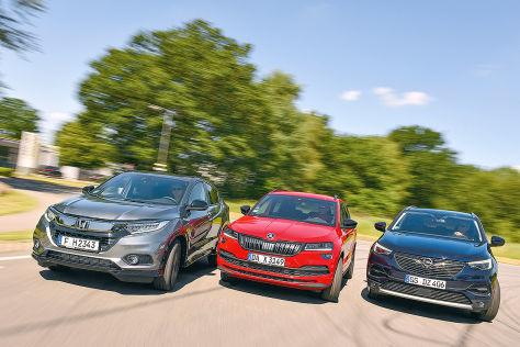 Honda HR-V fordert Karoq und Grandland X