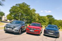 Honda HR-V, Opel Grandland X, Skoda Karoq: Test