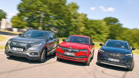HR-V, Grandland X, Karoq: SUV-Test