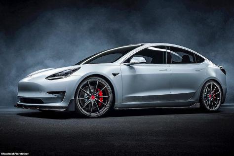 Tesla Model 3 Tuning: Vorsteiner Bodykit Volta