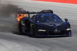 Millionen-McLaren fängt Feuer