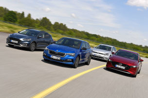 Skoda Scala h�ngt den VW Golf ab