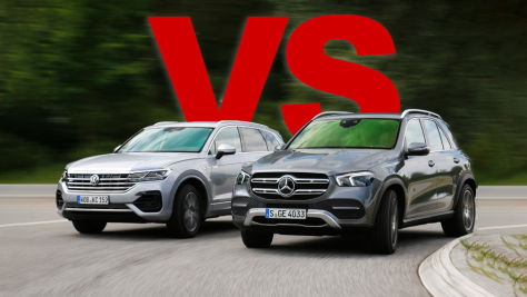 Mercedes GLE VW Touareg: Test