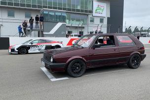 Oldie-Golf 2 schlägt Audi R8