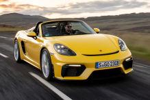 Erste Fahrt im Porsche 718 Spyder