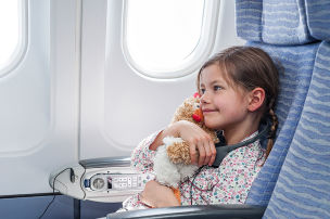 Kindersitz im Flugzeug