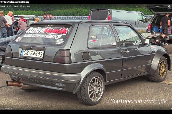 Carbon-Golf zieht Audi-Trio ab