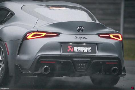 Toyota Supra mit Akrapovic Auspuff (2019)