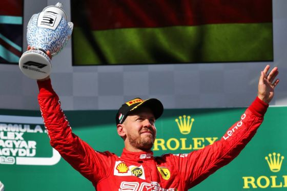 Vettel Hungary 2019