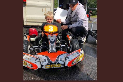 Robin Räikkönen erstmals im Kart!