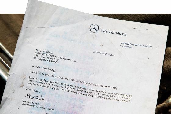 Das erste Mercedes 300 SE Cabrio