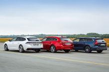 Mazda6 Kombi, Peugeot 508 SW, Volvo V60: Test