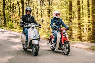 E-Roller: Piaggio und Honda