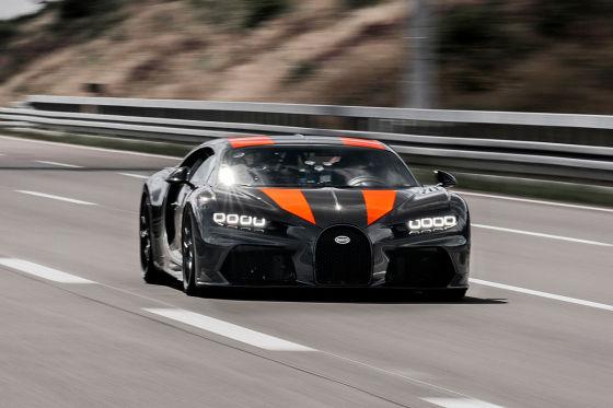 Bugatti Chiron: Rekordfahrt mit Tempo 490