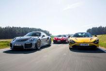 Ferrari 488 Pista, McLaren 720S Spider, Porsche 911 GT2 RS: Vergleich