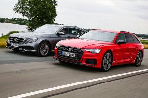 Audi S6 Avant, Mercedes E 400 d T: Test, Motor