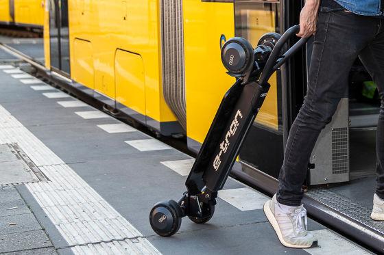 E-Scooter mit vier Ringen
