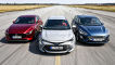 Ford Focus, Mazda3, Toyota Corolla: Hybrid, Test