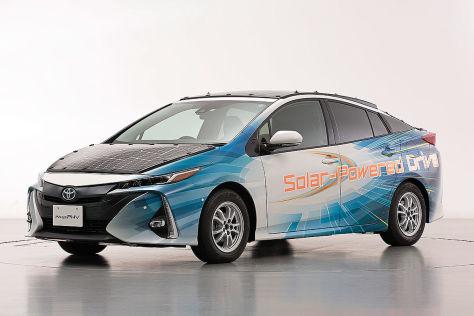 Toyota Prius mit Solarzellen