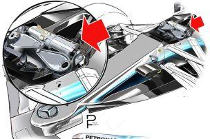 Mercedes mit neuem Dämpfer