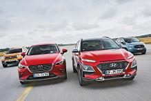 Dacia Duster, Ford EcoSport, Hyundai Kona, Mazda CX-3: Test