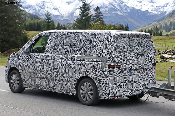 VW T7 Erlkönig auf Testfahrt erwischt