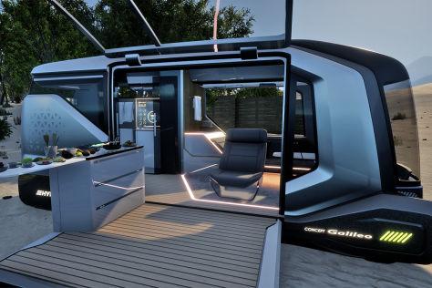 Autonomes Reisemobil der Zukunft