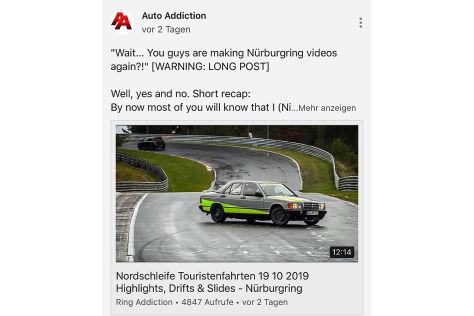 Streit um Crash-Videos vom Nürburgring