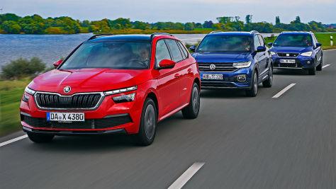 Seat Arona, Skoda Kamiq, VW T-Cross: Test