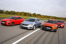 Ford Focus, Kia Ceed, Opel Astra, Renault Mégane: Test