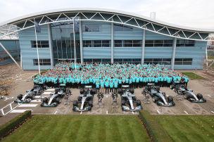 Formel 1: WM-Feier bei Mercedes