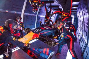 Red Bull übt Boxenstopp in Schwerelosigkeit