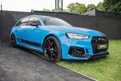 Audi RS4 Tuning: Milltek-Auspuff