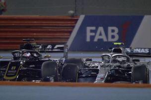Bottas kollidiert mit Grosjean