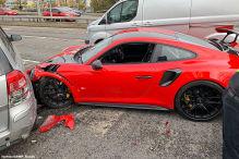 Porsche 911 GT2 RS: Unfall auf Probefahrt