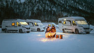 Winterfeste Wohnmobile und Wohnwagen