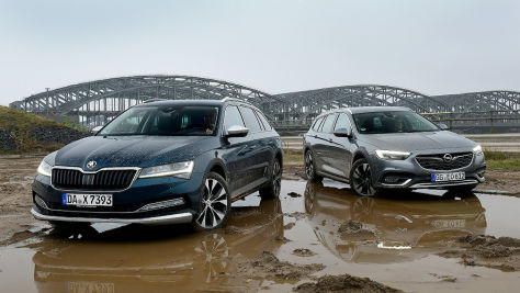 Opel Insignia Country Tourer, Skoda Superb Combi Scout: Test