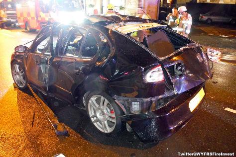 Seat Leon explodiert – Fahrer hat riesiges Glück
