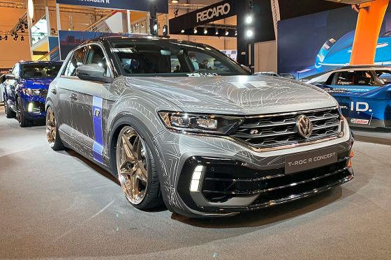 Getunter VW T-Roc R mit Luftfahrwerk