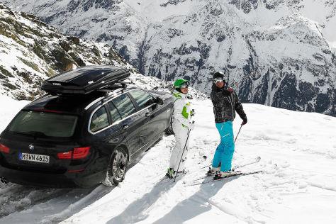Skibox: Ski und Snowboard transportieren