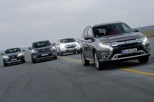 Vier Hybrid-SUVs im Vergleich: Test, Motor, Preis
