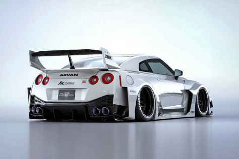 Nissan GT-R Tuning: Liberty Walk Bodykit