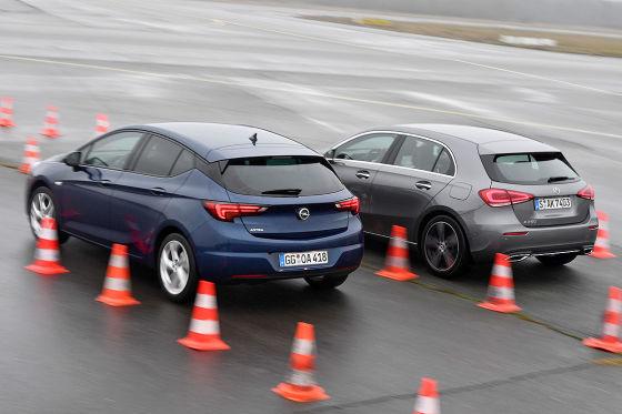 Mercedes A-Klasse Opel Astra