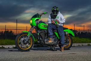 Eine Harley als Motocross-Maschine