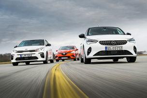 Kia Rio, Opel Corsa, Renault Twingo: Test