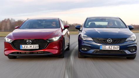 Opel Astra vs. Mazda3