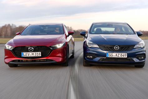 Opel Astra vs. Mazda3: Test